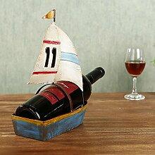 Weinzahnstangen Cabinet, Segeln Dekoration aus Holz Eisen Kunst für Home Decor Weihnachten Geburtstag Danksagung Geschenk