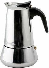 Weis 16976 Espressokocher, Edelstahl 6 Tassen