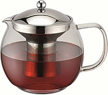 Weis 17055 Teekanne aus Glas und Edelstahl mit