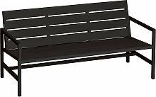 Weishäupl - Flow 3-Sitzer Bank, schwarz