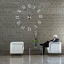 Weisidun XXL DIY Wanduhr Moderne Clock 3D Spiegel