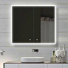 Weiß Alu LED Beleuchtung Badschrank