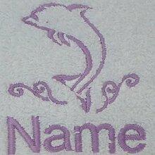 Weiß Baby Bademantel mit Kapuze oder weiß