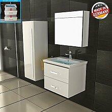 Weiß Badmöbel Waschbeckenunterschrank & Nanobeschichtung Gäste WC Waschtisch Handwaschbecken