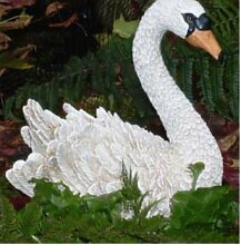 Weiß Cygnet Swan–Garten Ornament, Teich