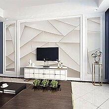 Weiß Einfache moderne 3D-Tapete Wohnzimmer Film