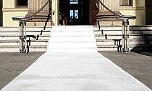 Weiß Eventteppich VIP Carpet Läufer Teppich Empfangsteppich in Breite 1 m und Länge 25 m