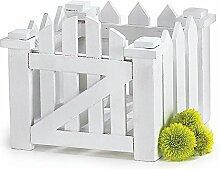 Weiß Holz Lattenzaun Blume Übertopf für Home