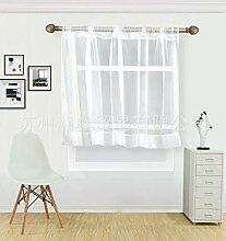 Weiß Kaffee Kurz Vorhang Halb Fenster Tüll