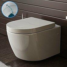 Weiss Keramik Toilette Wand Hänge WC mit Bidet /Taharet Funktion mit Soft-Close Dusch WC