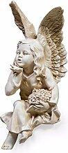 Weiß Kissing sitzender Engel Cherub Ornament