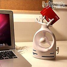 weiß kreativ USB Mini Handheld Klimaanlage Ventilator tragbare wiederaufladbare Batterie stumm Studenten kleine Ventilator Büro weiß