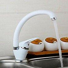 Weiß Küchenarmatur Biegerohr 360-Grad-Drehung