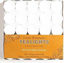 Weiß Lange Brenndauer Teelicht Kerzen Amtsheftung