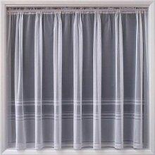 Weiß Net Voile Streifen Vorhang 160cm lang