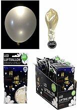 WEISS perlmutt LED BALLON luftballon für Hochzeit party Perlweiß helium (30)