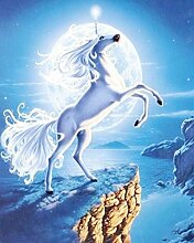 Weiß Pferd Diamant Malerei 5D DIY Voll Bohren