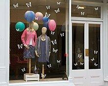Weiß Schmetterling Statische Fenster Aufkleber–Home & Shop Dekorationen, für Weihnachten Weiß