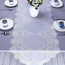 Weiß Spitze Tischdecke Tischläufer 55cm*3m