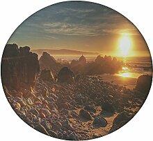Weiß Stein rund Mandala Tapisserie Hippie, Hippie-Stil, Überwurf Betten Tagesdecke, Gypsy, zum Aufhängen Indianer Boho Gypsy Baumwolle Tischdecke Strandtuch, dekorativer Wandschmuck, rund Meditation Yoga Matte, multi, 50 Inches
