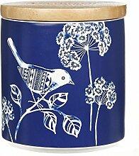 Weiß und Blau Porzellan Keramik Vorratsdose Frischhaltedose mit versiegelten Deckel, M