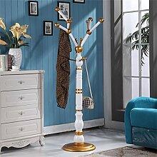 Weiß und Gold Europäische Stil Mantel Racks Mode Kleiderbügel Indoor Floor Trocknen Racks