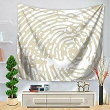 Weiß und Schwarz Abstrakte Mandala Wandteppich für Beach Werfen, B, 150130, C, 150*200