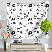 Weiß und Schwarz Geometrie Wandteppich für modernen Stil Wand Kunst, ein, 150200, C, 150*130