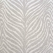 Weiß und Silber Wand einkleistern Zebra Print