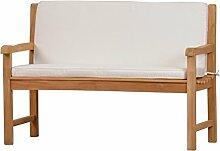 Weiße Bankauflage Kanaria mit Rückenteil - 120 x