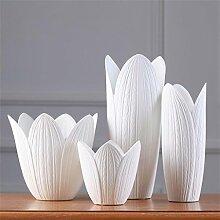 Weiße Keramik Vase Vier - Stück Kreative Moderne Einfache Wohnzimmer TV Schrank Dekoration