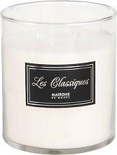 Weiße Kerze im Glas