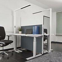 Weiße LED-Office-Stehlampe Jolinda, dimmbar