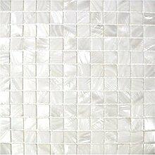 Weiße Rauten Perlmutt Mosaik Fliese für