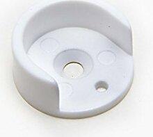 Weiße runde Art Plastikstangenschieneneinfaßung 16mm Innendurchmesserkasten von 2