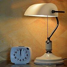 Weiße Schmiedeeiserne Tischleuchte Schlafzimmer Arbeitszimmer Wohnzimmer Dekoration Kreative Vintage Tischlampen (36 Cm * 25 Cm)
