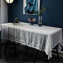 Weiße Spitze Tischdecke, Durchbrochene Dekorative