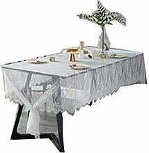 Weiße Spitzen Tischdecke, Vintage Hochzeit