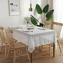 Weiße Spitzentischdecke, Rechteckige Tischdecke
