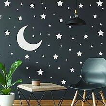 Weiße Sterne Aufkleber – Weltraumthema