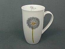 Weiße Tasse Pustbeblume XXL Becher Porzellan Kaffeebecher 420ml Teebecher Jumbo Tasse
