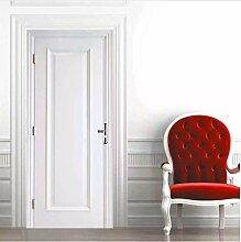 Weiße Tür Aufkleber Schöne Landschaft PVC