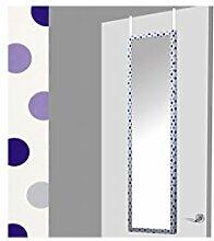 Weiße Türspiegel mit lila Punkten(37x2x128)