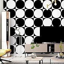 Weiße und schwarze moderne geometrische Tapete,
