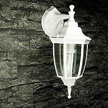 Weiße Wandlampe Vintage Außen Aluminium Glas