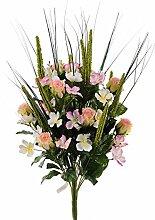 Weißen Dino bq148_ 01.jpg Bouquet Garten- und Rose, Kristall, Pink, 30x 30x 64cm