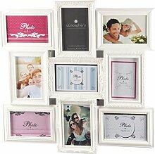 weißer Bilderrahmen - Collage für 9 Fotos