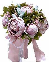 Weißer Brautstrauß blauer Hochzeitsstrauß