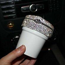 Weißer Diamant Auto Aschenbecher mit LED-Leuchten