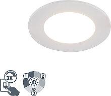 Weißer Einbaustrahler inkl. LED 3-stufig dimmbar
